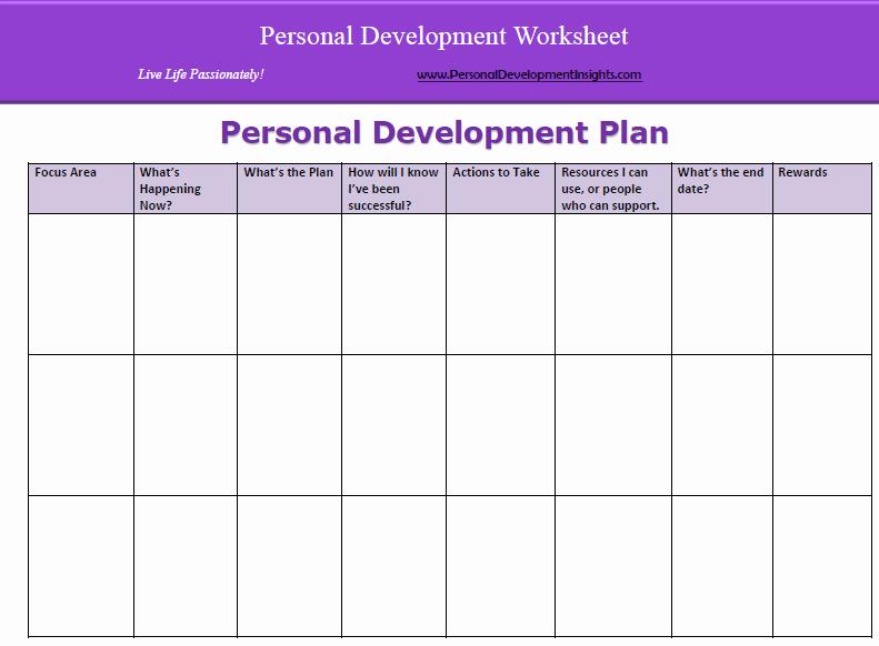 Personal Improvement Plan Template Beautiful 6 Personal Development Plan Templates Excel Pdf formats