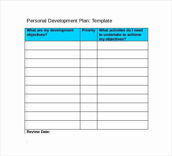 Personal Improvement Plan Template Fresh 9 Development Plan Templates to Free Download