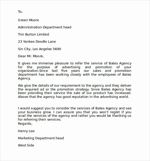 Personal Letter format Examples Fresh 7 Personal Business Letter format Samples