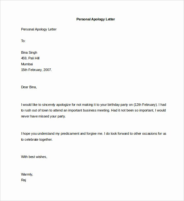 Personal Letter format Examples New 44 Personal Letter Templates Pdf Doc