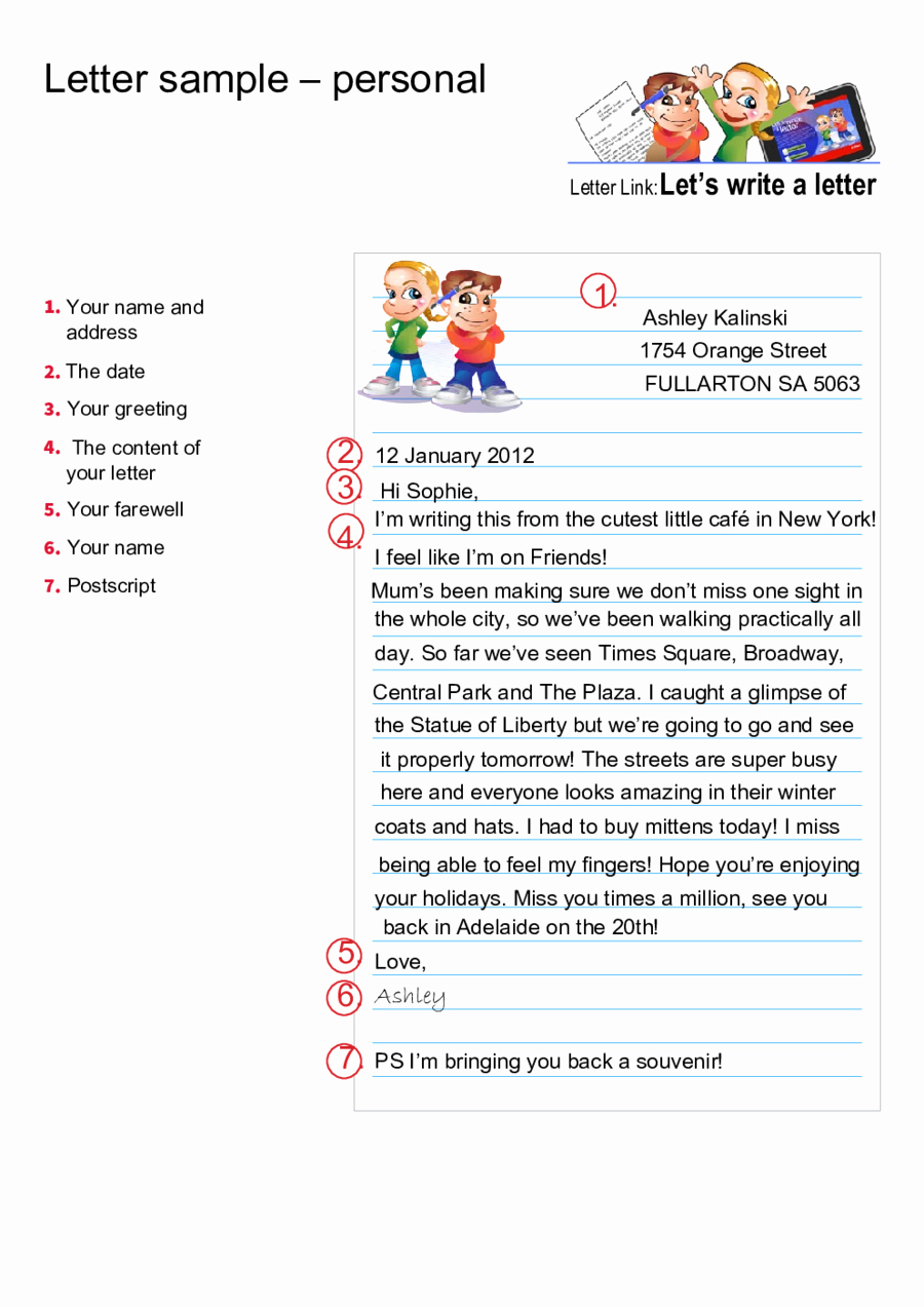 Personal Letter format Examples New Personal Letter format How to Write Personal Letter