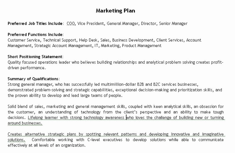 Personal Marketing Plan Template Lovely the Best Job Search tool Ever