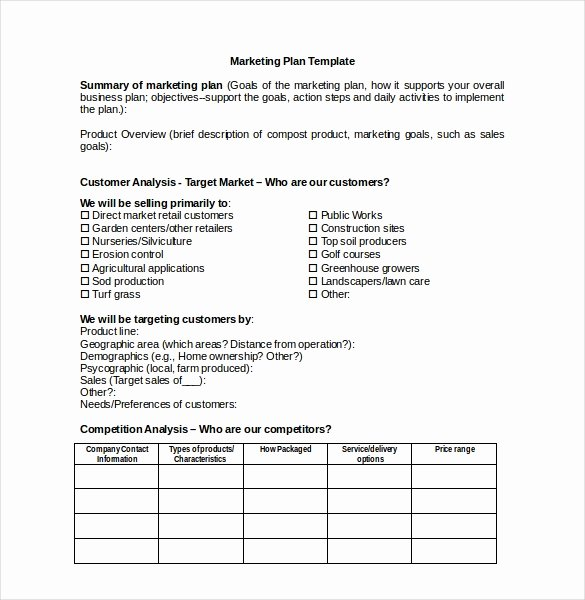 Personal Marketing Plan Template Unique 18 Marketing Plan Templates Free Word Pdf Excel Ppt
