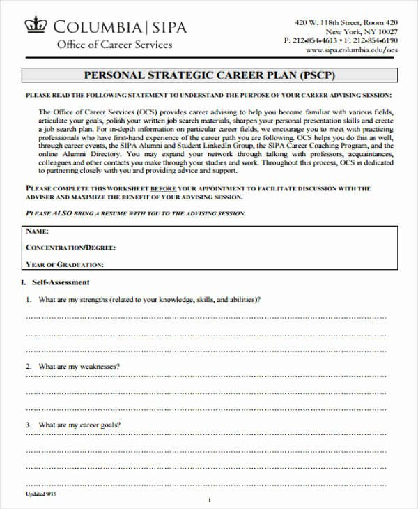 Personal Strategic Plan Template Best Of 8 Personal Plan Samples & Templates