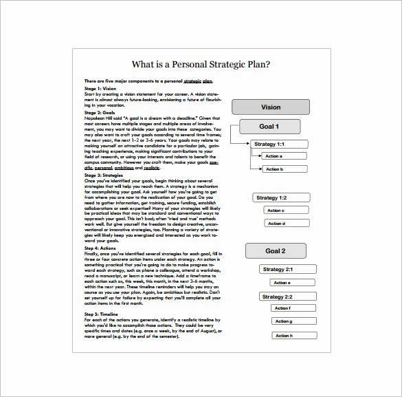 Personal Strategic Plan Template Elegant Strategic Action Plan Template 14 Free Pdf Word format