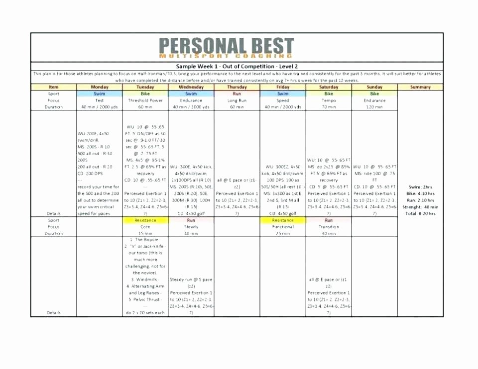 Personal Trainer Business Plan Template New Personal Trainer Fitness Plan Template