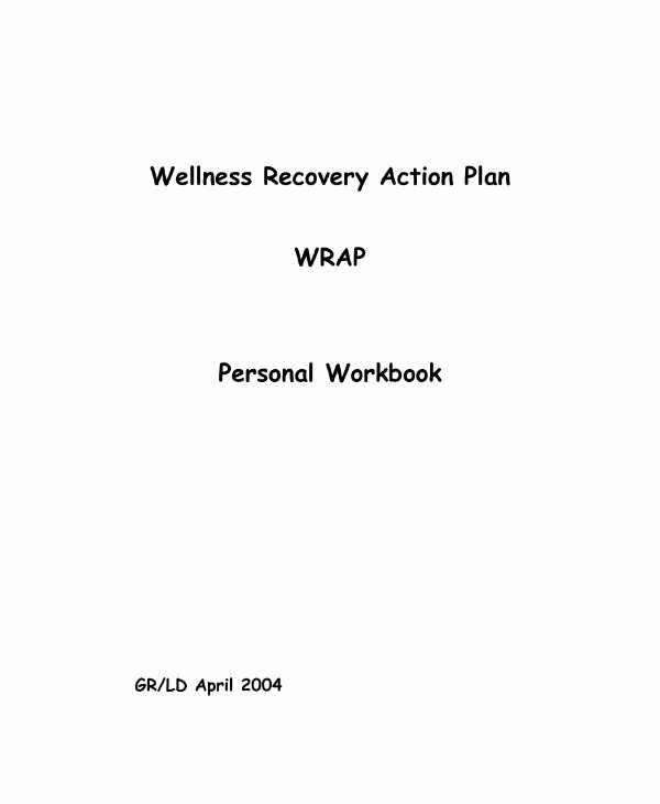 Personal Wellness Plan Template Unique 10 Wellness Recovery Action Plan Templates Pdf