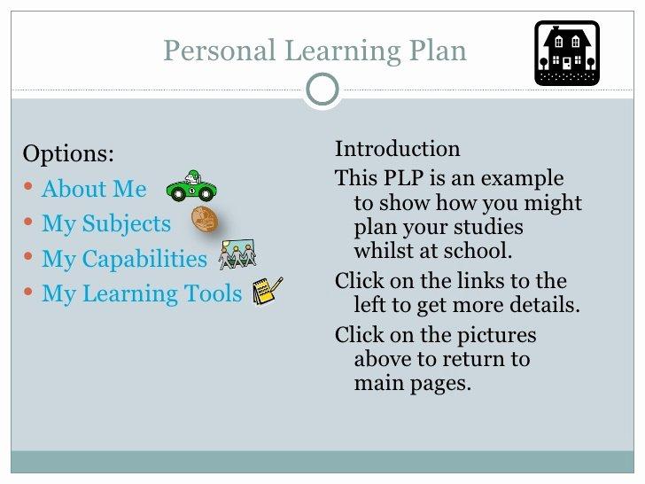 Personalised Learning Plan Template Elegant Plp