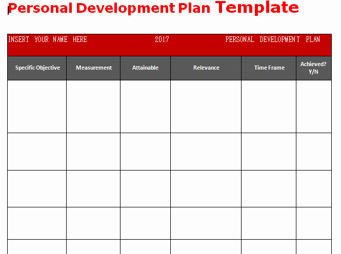 Personalised Learning Plan Template New Get Personal Development Plan Template Word Microsoft