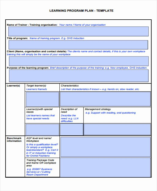 Personalised Learning Plan Template New Learning Plan Templates 10 Free Samples Examples format