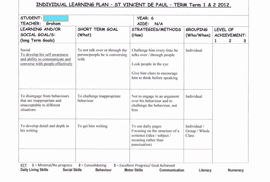 Personalized Learning Plan Template Best Of Individual Education Plan Template