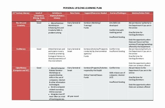 Personalized Learning Plan Template New 9 Learning Plan Examples Samples Personal Lifelong for