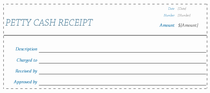 Petty Cash Receipt Template Beautiful Receipt Template Blank Receipts for Word