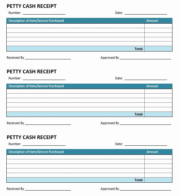 Petty Cash Receipt Template Best Of 8 Free Sample Petty Cash Receipt Templates Printable Samples