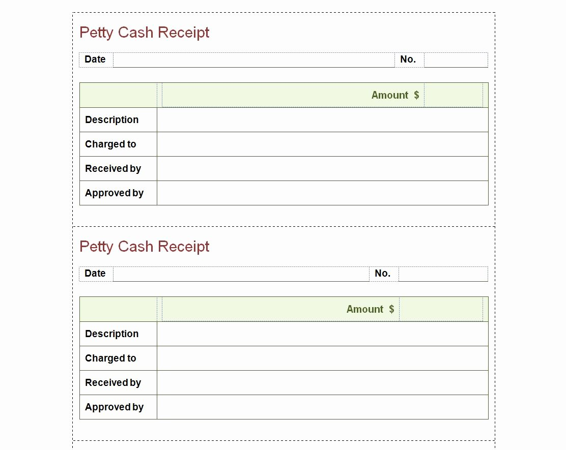 Petty Cash Receipt Template Best Of Petty Cash Receipt Template