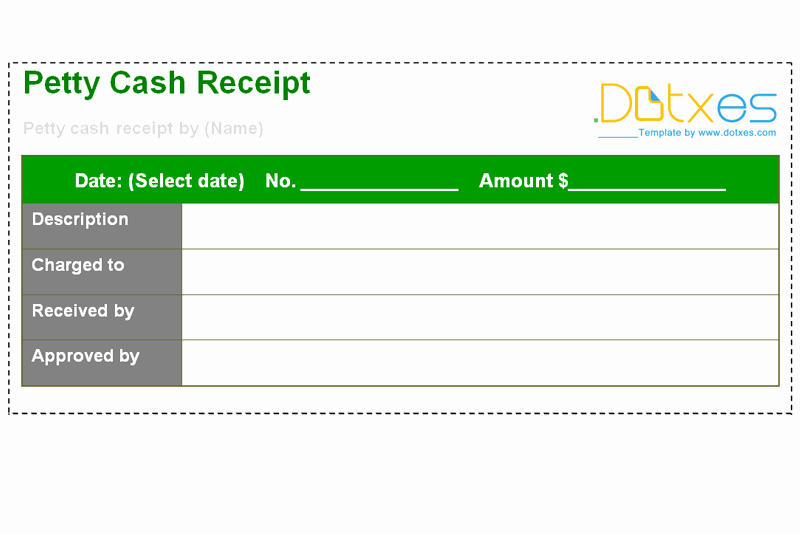 Petty Cash Receipt Template Unique Petty Cash Receipt Template Dotxes