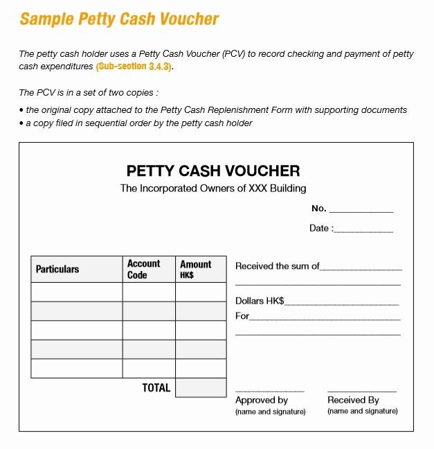 Petty Cash Voucher Template Best Of 8 Free Sample Petty Cash Voucher Templates Printable Samples