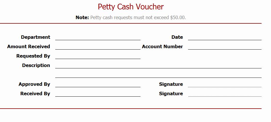 Petty Cash Voucher Template Elegant Petty Cash Voucher Sample Layouts