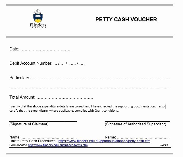 Petty Cash Voucher Template Lovely 8 Free Sample Petty Cash Voucher Templates Printable Samples