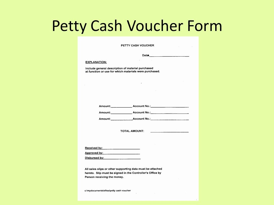 Petty Cash Voucher Template Luxury A Club Treasurer Guide Ppt Video Online