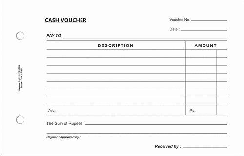 Petty Cash Voucher Template New 4 Free Cash Voucher Templates Word Excel Pdf formats