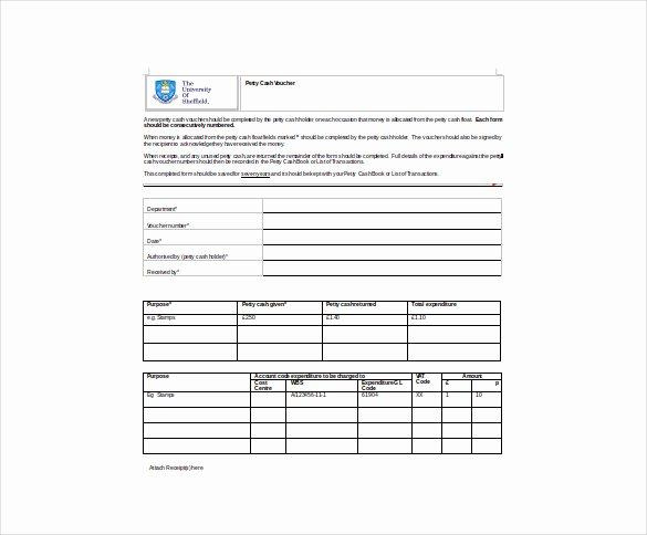 Petty Cash Voucher Template Unique Free Voucher Template 12 Free Word Excel Pdf