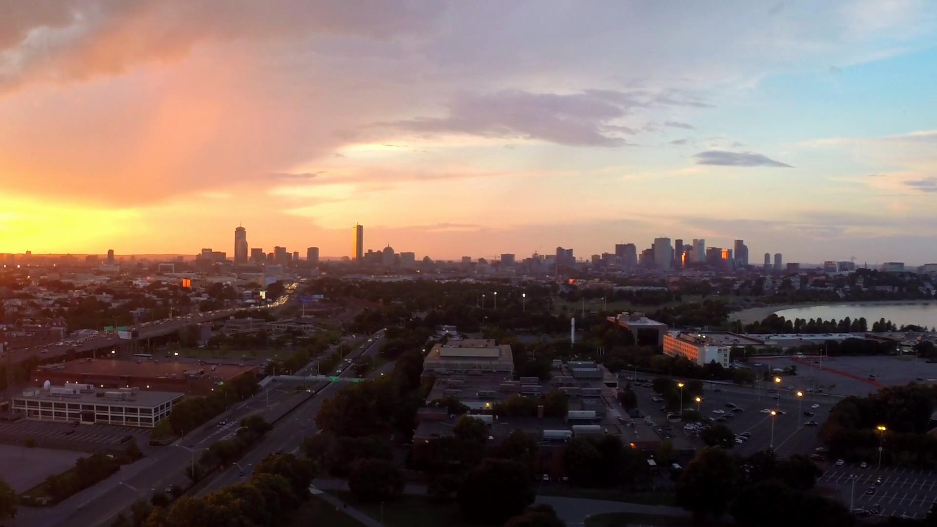 Phantom Stock Agreement Template Elegant Stationary Aerial View Boston Skyline with Sunset Fast