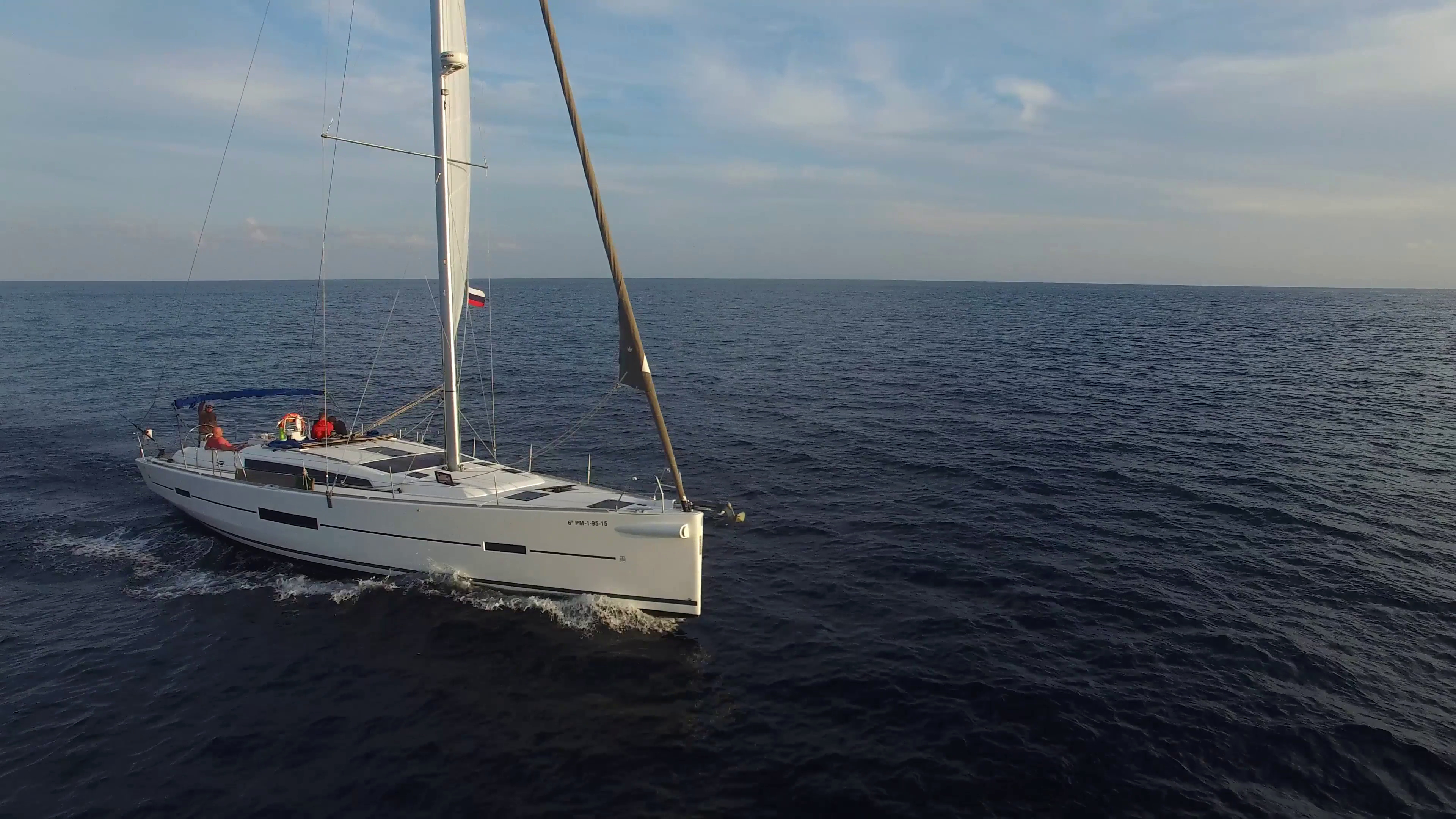 Phantom Stock Agreement Template Luxury Sailing Yacht In the Ocean Aerial View Stock Video