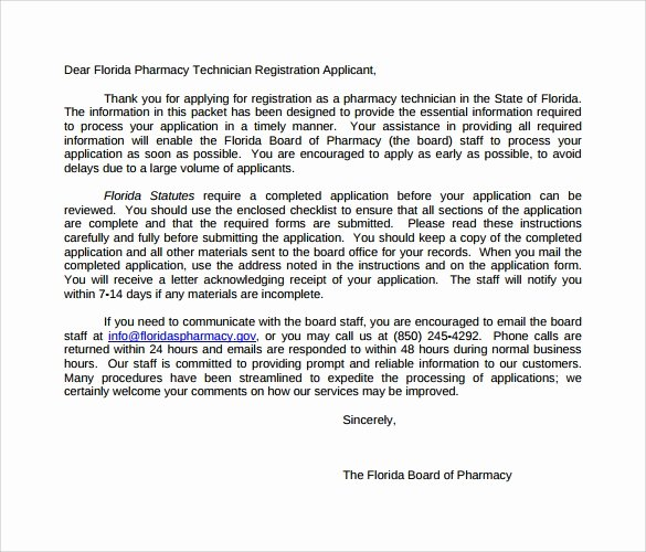 Pharmacist Letter Of Recommendation Sample Elegant 14 Pharmacy Technician Letters – Samples Examples