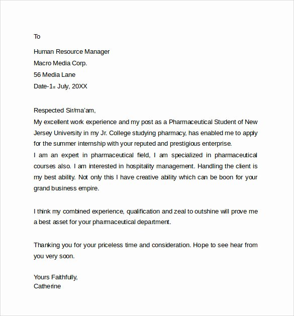 Pharmacist Letter Of Recommendation Sample New 8 Pharmacist Letter Templates