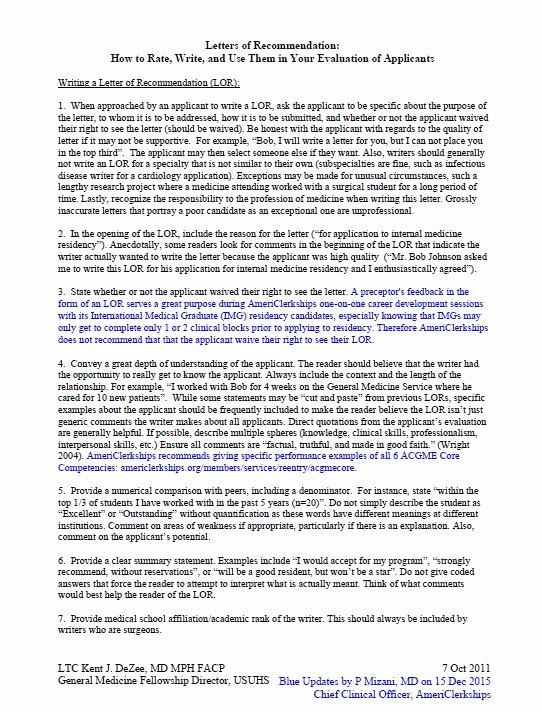 Pharmacy Residency Letter Of Recommendation Elegant Letter Of Re Mendation for Residency