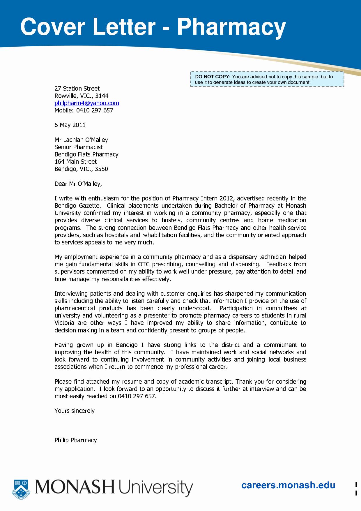 Pharmacy Residency Letter Of Recommendation Fresh Pin Oleh Jobresume Di Resume Career Termplate Free
