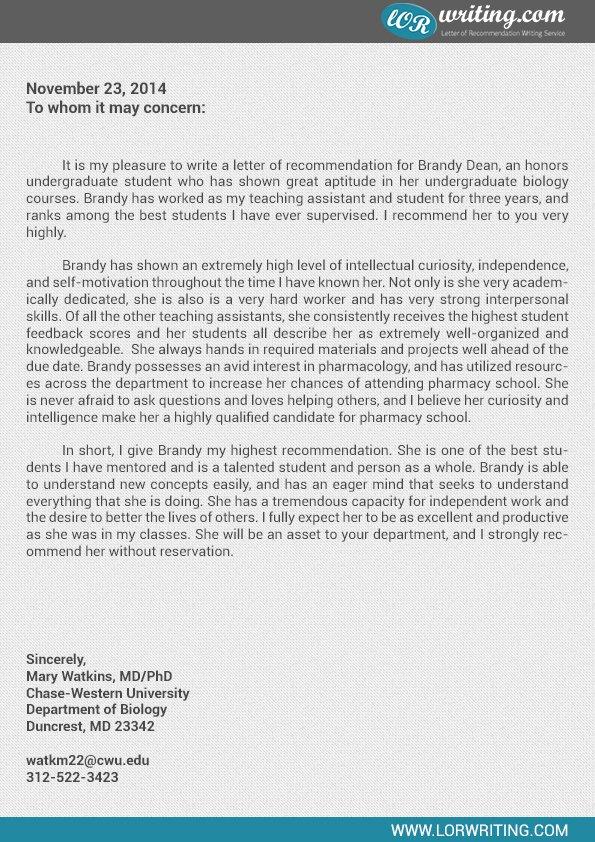 Pharmacy Residency Letter Of Recommendation Inspirational [sample Letter Re Mendation for Residency Application