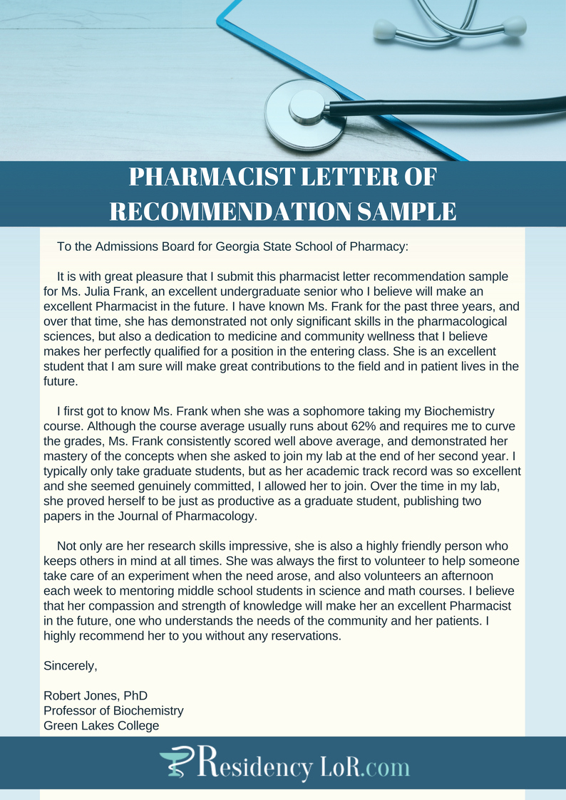 Pharmacy Residency Letter Of Recommendation New Excellent Pharmacy Letter Of Re Mendation Writing Help