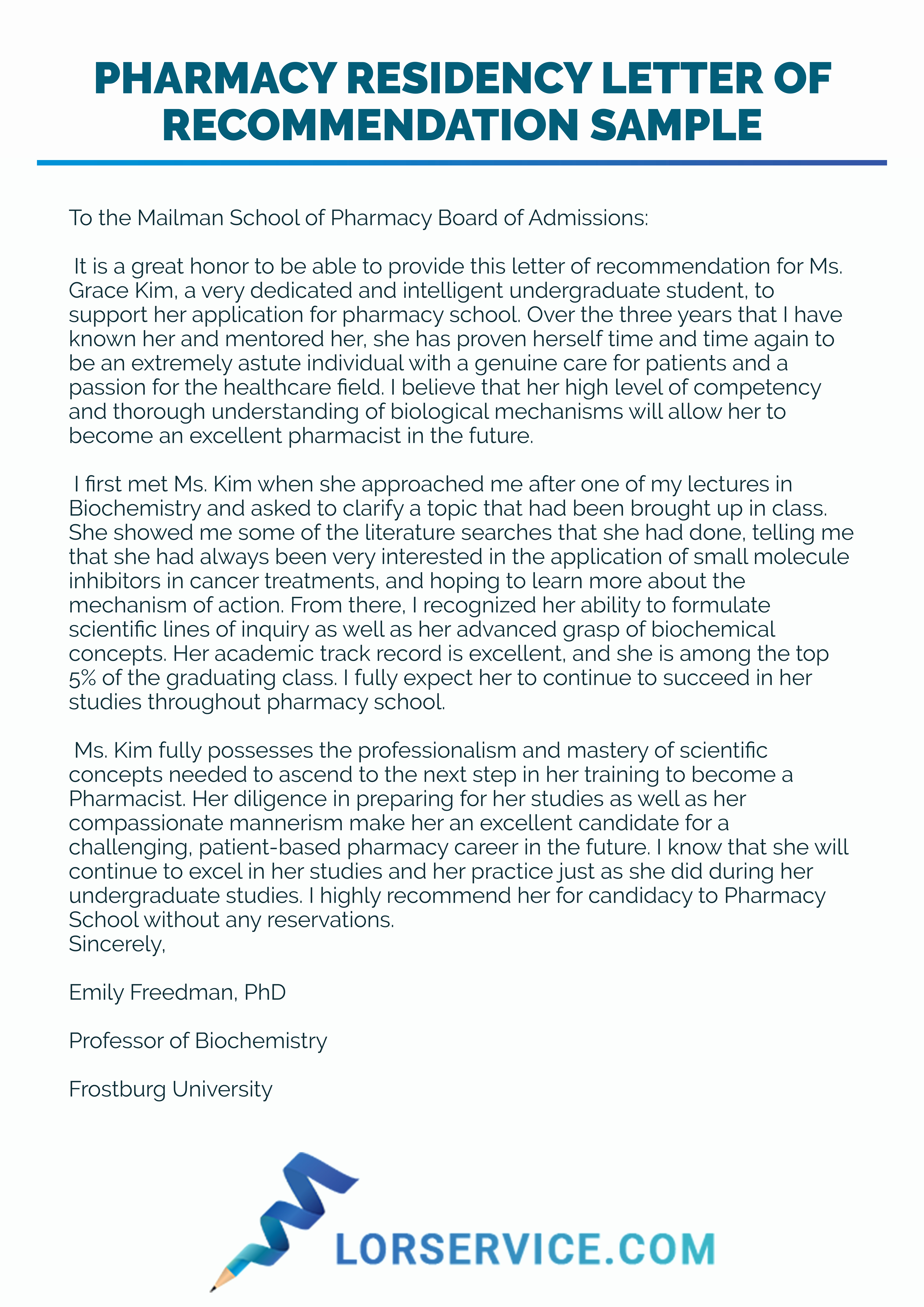 Pharmacy School Recommendation Letter Awesome Pharmacy Re Mendation Letter