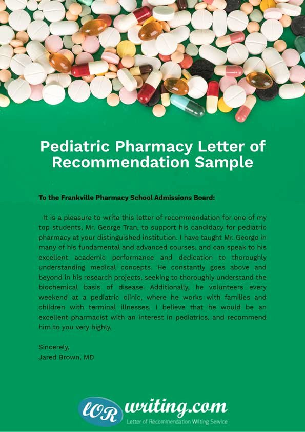 Pharmacy School Recommendation Letter Best Of Sample Letter Of Re Mendation for Pharmacy School Applicant