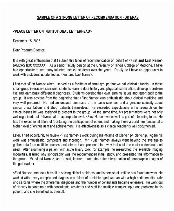 Pharmacy School Recommendation Letter Elegant Free Edit Nursing Reference Letter Re Mendation