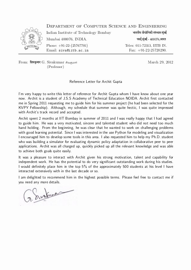 Phd Letter Of Recommendation Best Of Re Mendation Letter for Phd Student From Professor