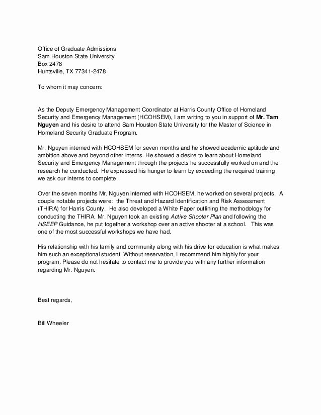 Phd Letter Of Recommendation Fresh Reference Letter Graduate School