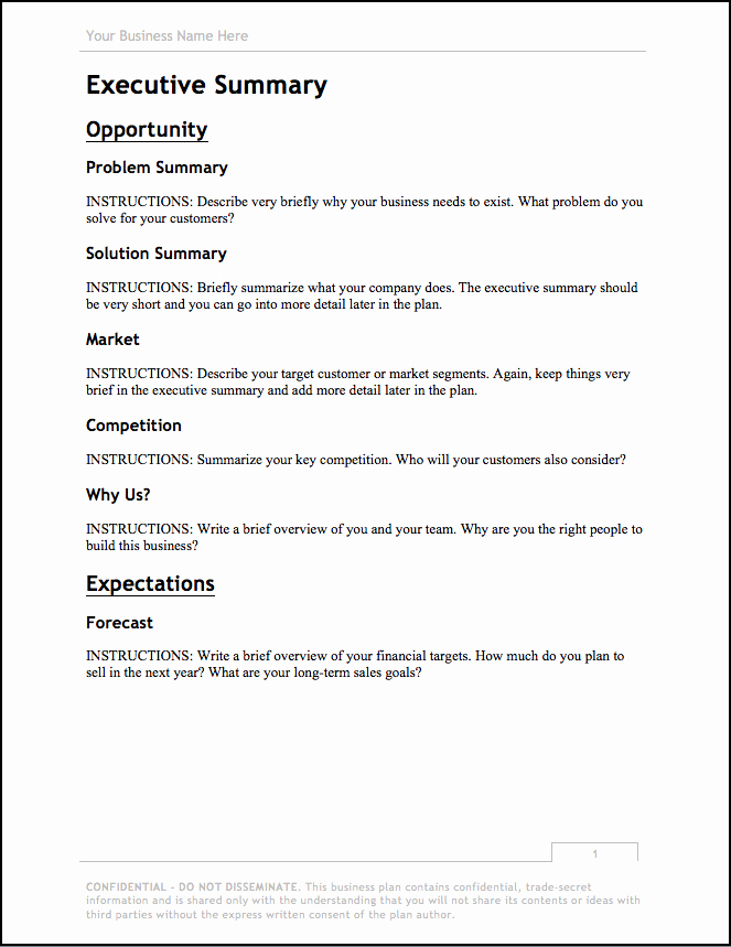 Photography Business Plan Template Best Of Business Plan Template [updated for 2018] – Free Download