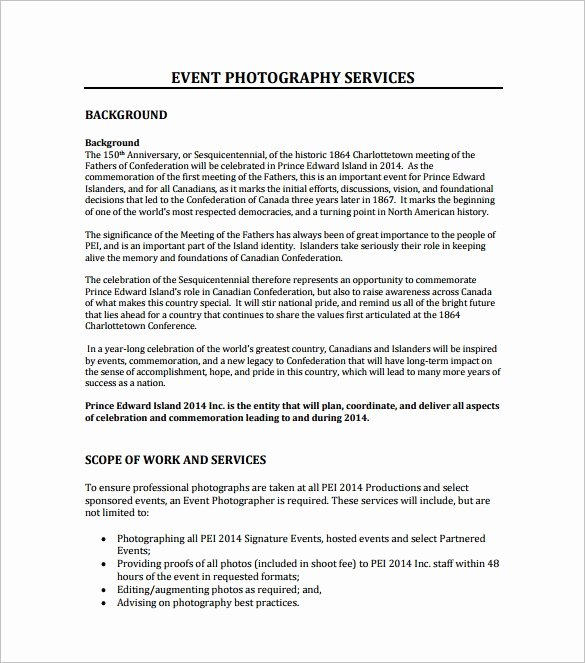 Photography Business Plan Template Luxury event Proposal Template 21 Free Word Pdf format