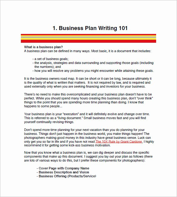 Photography Business Plan Template New Graphy Business Plan Template 11 Free Word Excel