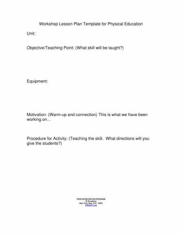 Physical Education Lesson Plan Template Best Of 10 Physical Education Lesson Plan Samples Pdf Word