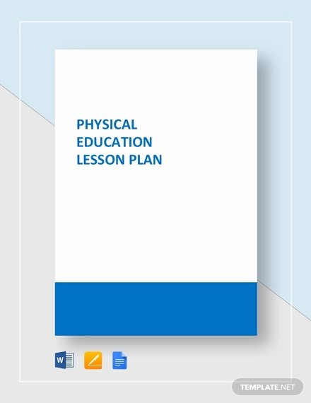 Physical Education Lesson Plan Template Elegant Physical Education Lesson Plan Template 7 Free Pdf