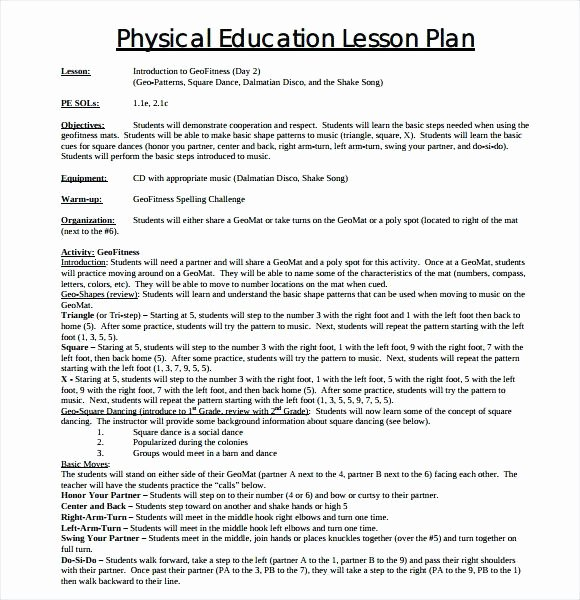 Physical Education Lesson Plan Template Fresh Emergent Curriculum Preschool Lesson Plan Template