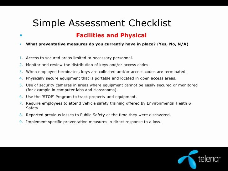 Physical Security Plan Template Awesome Physical Security assessment