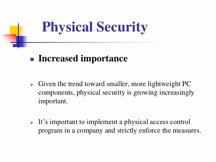 physical securityppt