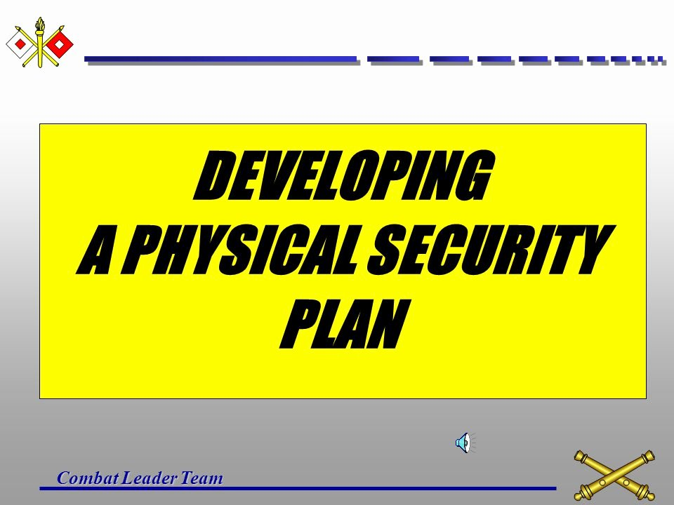 Physical Security Plan Template Luxury Unit Physical Security Plan Ppt Video Online