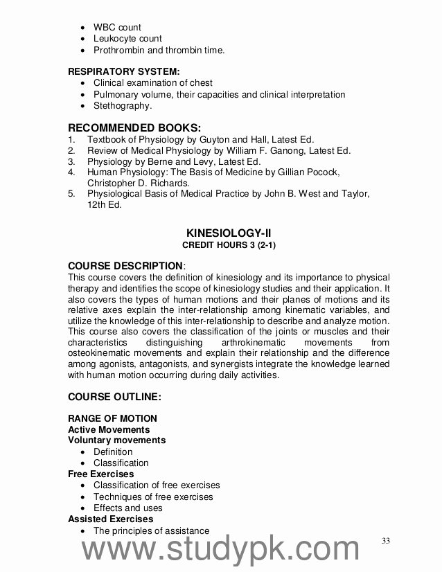 Physical therapy Letter Of Recommendation Elegant Hec Curriculum Of Doctor Of Physical therapy Dpt