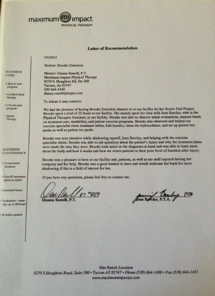 Physical therapy Letter Of Recommendation Luxury Re Mendation Letter